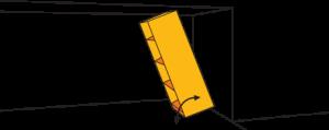 largeur du jeu au plafond