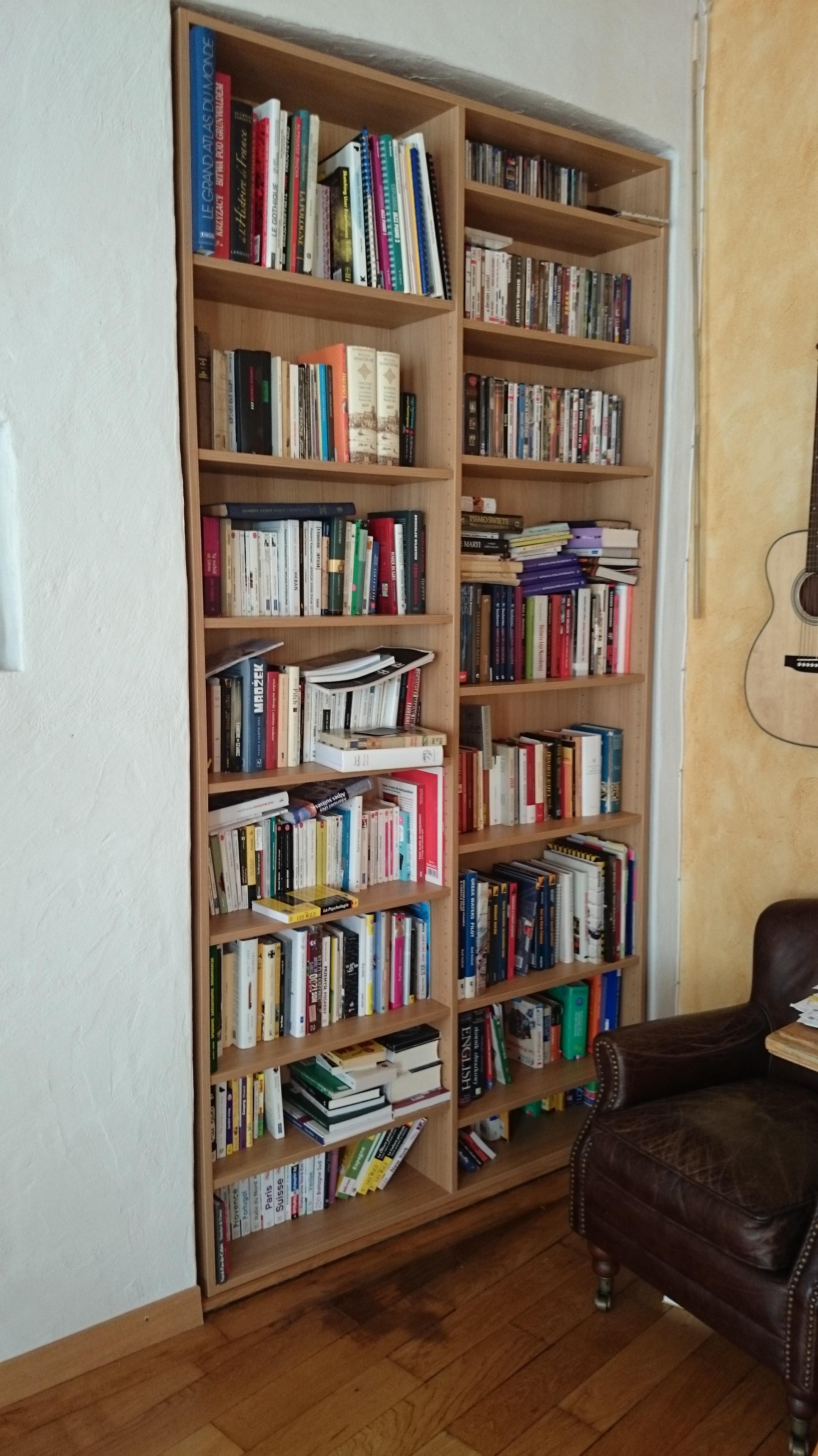 Exemple de bibliothèque réalisée par Quickmeuble